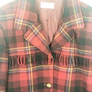 Sarah Chapman Wool blend fringe Jacket cowboy camp